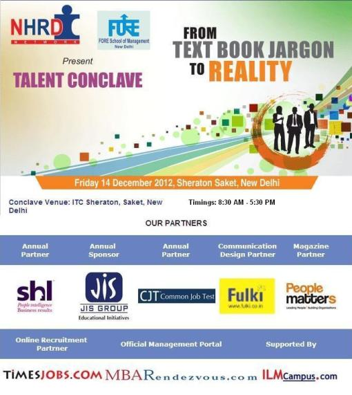 NHRDN Talent Conclave 2012- Block Your Seat Today Before Its Too Late